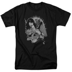 Bettie Page Remember Black Short Sleeve Junior T-shirt