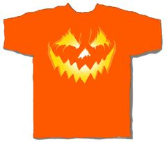 Halloween Glowing Pumpkin Orange Short Sleeve Adult T-shirt