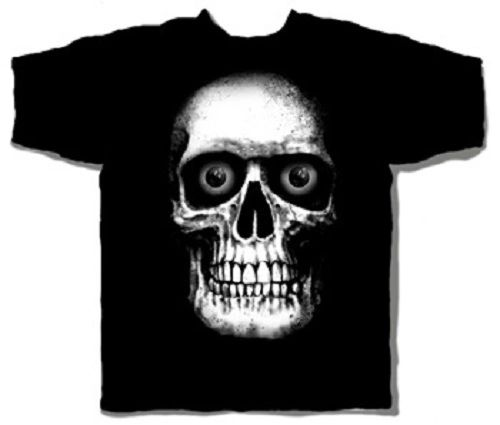 Halloween Skull Head Black Short Sleeve Adult T-shirt