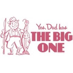 Fathers Day The Big One White Short Sleeve Adult T-shirt