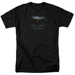 Batman vs Superman Logo Black Short Sleeve Adult T-shirt