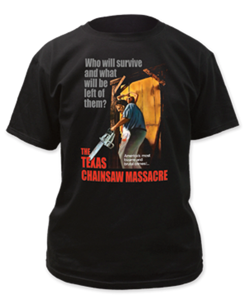 The Texas Chainsaw Massacre Bizarre & Brutal Crimes Black Short Sleeve Adult T-shirt