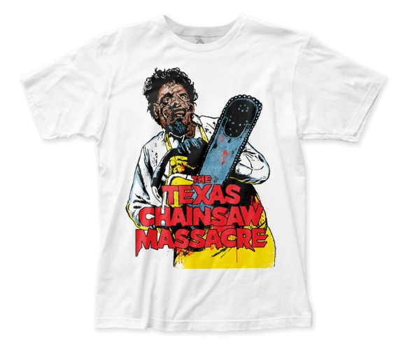 The Texas Chainsaw Massacre Illustration White Short Sleeve Adult T-shirt