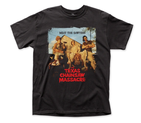 The Texas Chainsaw Massacre Meet the Sawyers Black Short Sleeve Adult T-shirt