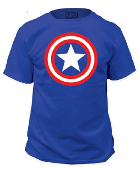 Captain America Shield Royal Short Sleeve Adult T-shirt
