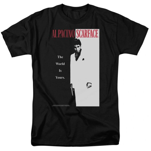 Scarface Classic Black Short Sleeve Adult T-shirt