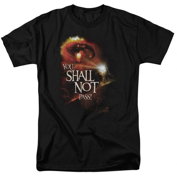 The Lord of the Rings You Shall Not Pass Black Short Sleeve Adult T-shirt