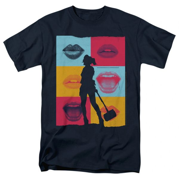 Birds of Prey Lips Black Short Sleeve T-shirts