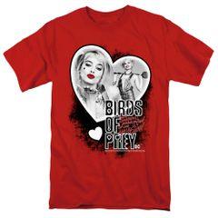 Birds of Prey Heart Harley Red Short Sleeve T-shirts