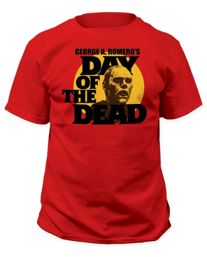Day of the Dead Circle Portrait Red Short Sleeve Adult T-shirt