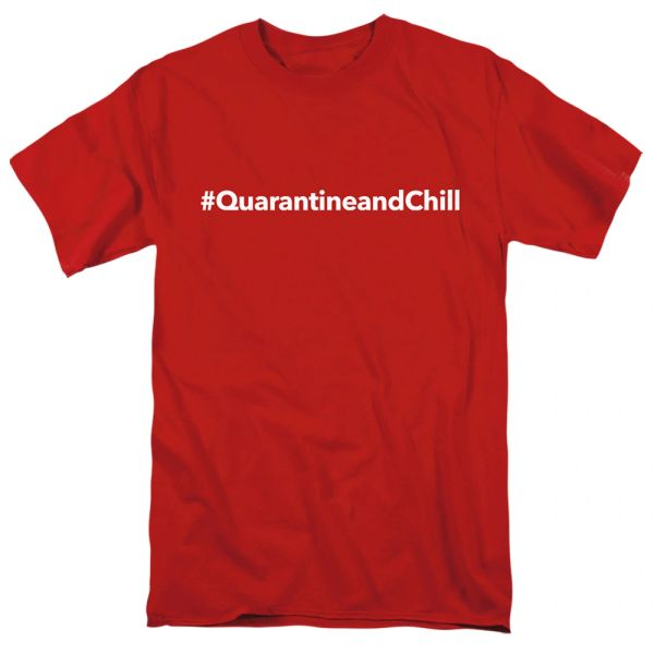 QuarantineandChill Red Short Sleeve T-shirts