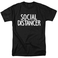 Social Distancer 2 Black Short Sleeve T-shirts