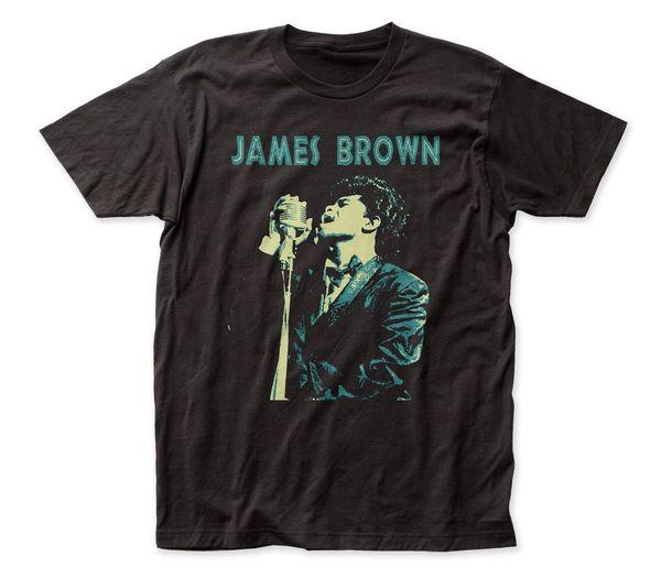 James Brown Singing Black Short Sleeve Adult T-shirt