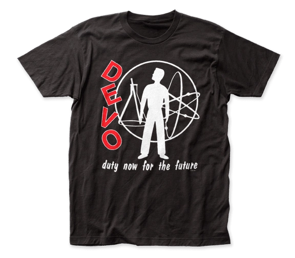 Devo Duty Now for the Future Black Short Sleeve Adult T-shirt
