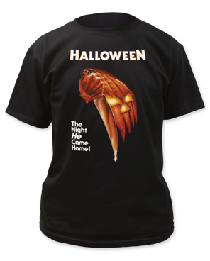 Halloween The Night He Came Home Black 100% Cotton Adult T-shirt