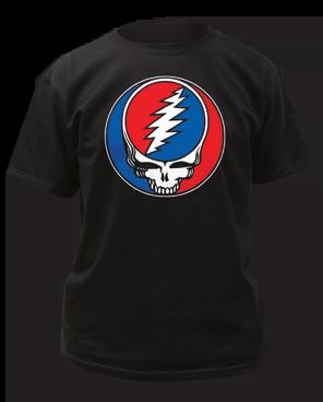 Grateful Dead Steal Your Face Black Short Sleeve Adult T-shirt