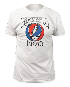 Grateful Dead Logo/Steal Your Face White Short Sleeve Adult T-shirt