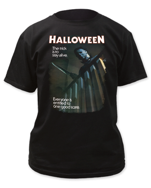 Halloween One Good Scare Black 100% Cotton Adult T-shirt
