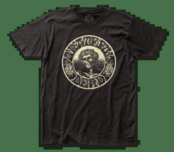 Grateful Dead Glowing Skeleton Black Short Sleeve Adult T-shirt