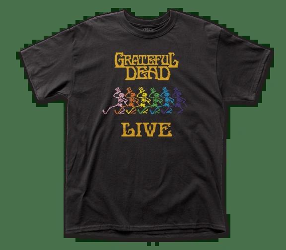Grateful Dead Live Black Short Sleeve Adult T-shirt