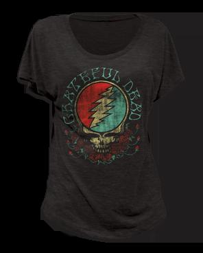 Grateful Dead Steal Your Face Short Sleeve Women's T-shirt