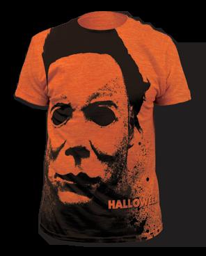 Halloween Splatter Mask Big Print Heather Oranges Short Sleeve Adult T-shirt