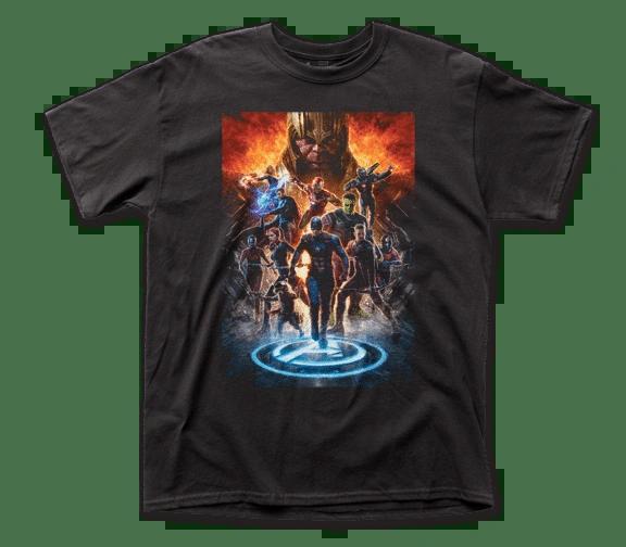 The Avengers Endgame Poster Black Short Sleeve Adult T-shirt