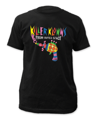 Killer Klowns From Outer Space Popcorn Gun Black Short Sleeve Adult T-shirt