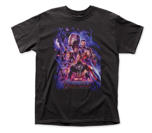 The Avengers Endgame Poster 2 Black Short Sleeve Adult T-shirt