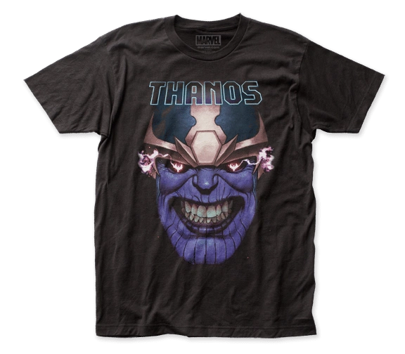 Thanos Clinched Teeth Black Short Sleeve Adult T-shirt