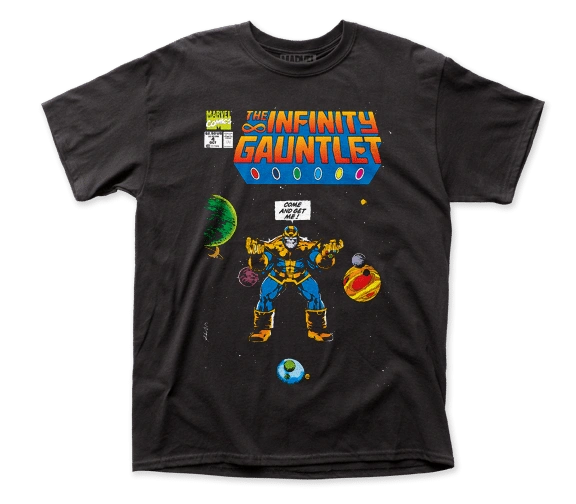 Thanos Come and Get Me Black Short Sleeve Adult T-shirt