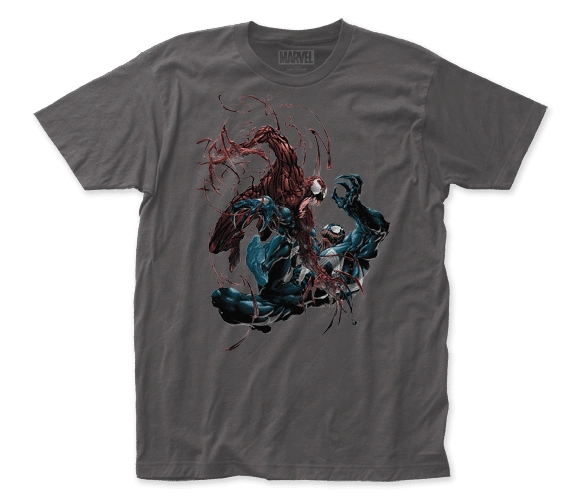 Venom Carnage vs Venom Charcoal Short Sleeve Adult T-shirt