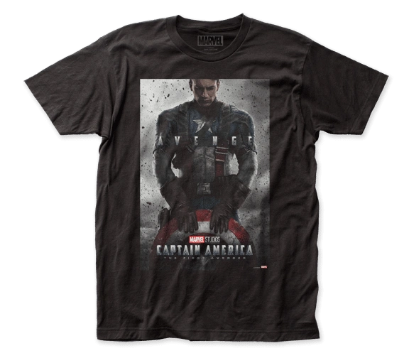 Captain America Captain America Poster Short Sleeve Adult T-shirt