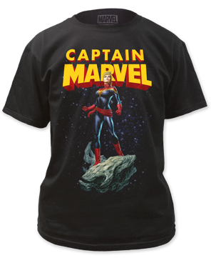 Captain Marvel Asteroid Black Short Sleeve Women's T-shirt