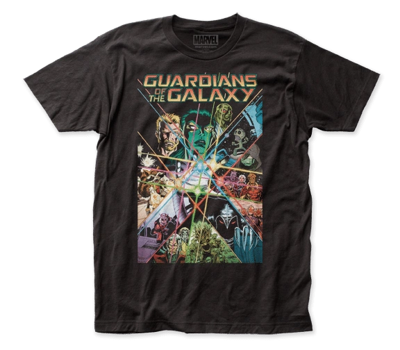 Guardians of the Galaxy Guardians Gauntlet Black Short Sleeve Adult T-shirt