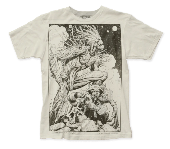 Guardians of the Galaxy Groot and Rocket Short Sleeve Adult T-shirt