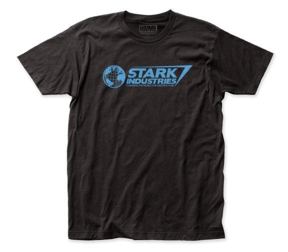 Iron Man Stark Industries Black Short Sleeve Adult T-shirt