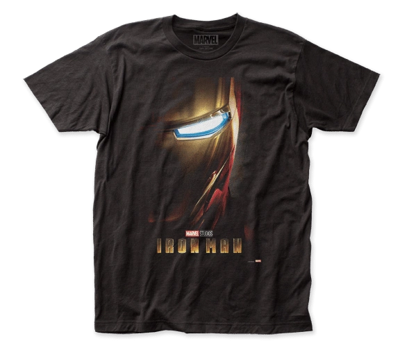Iron Man Poster Black Short Sleeve Adult T-shirt