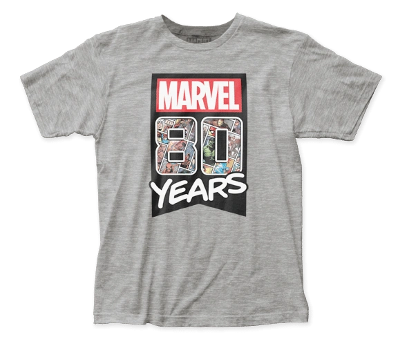 Marvel 80 Years Short Sleeve Adult T-shirt