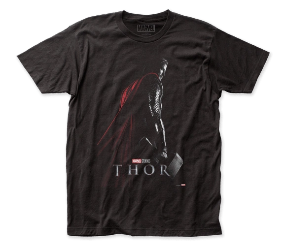 Thor Poster Black Short Sleeve Adult T-shirt