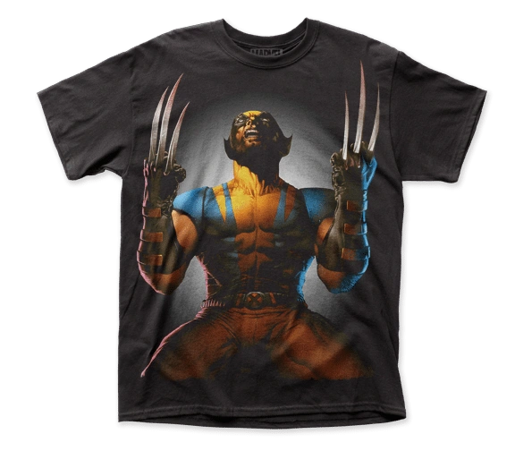 Wolverine Claws Drawn Big Print Short Sleeve Adult T-shirt