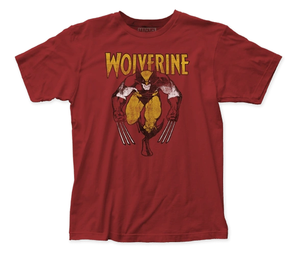 Wolverine On Red Short Sleeve Adult T-shirt