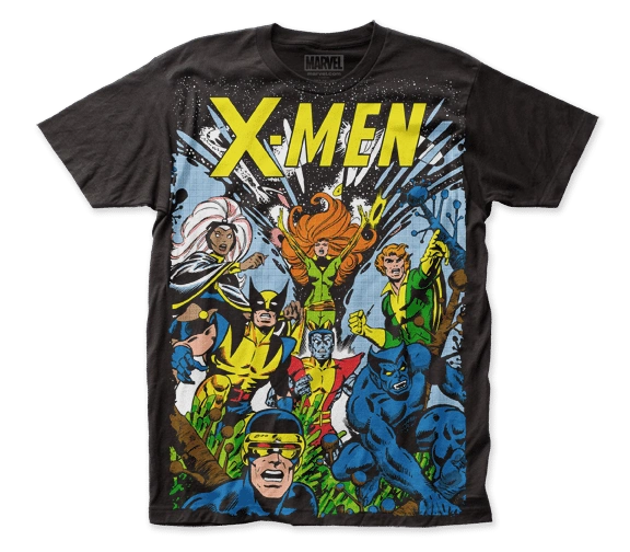 X-men The Gang Big Print Black Short Sleeve Adult T-shirt