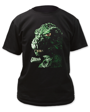 Godzilla Portrait Black Short Sleeve Adult T-shirt