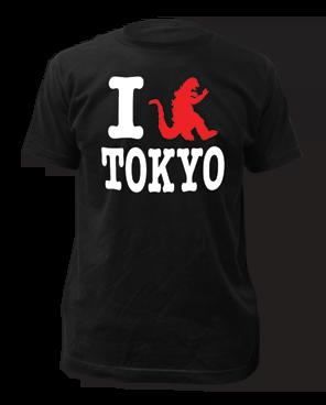 Godzilla I Godzilla Tokuo Black Short Sleeve Adult T-shirt