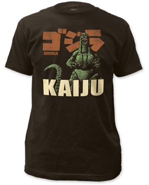 Godzilla KAIJU Black Short Sleeve Adult T-shirt