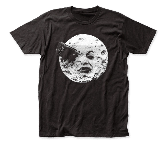 Trip to the Moon Black Short Sleeve Adult T-shirt