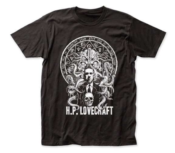 H.P. Lovecraft Black Short Sleeve Adult T-shirt