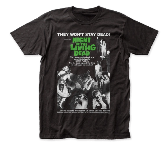 Night of the Living Dead Poster Black Short Sleeve Adult T-shirt