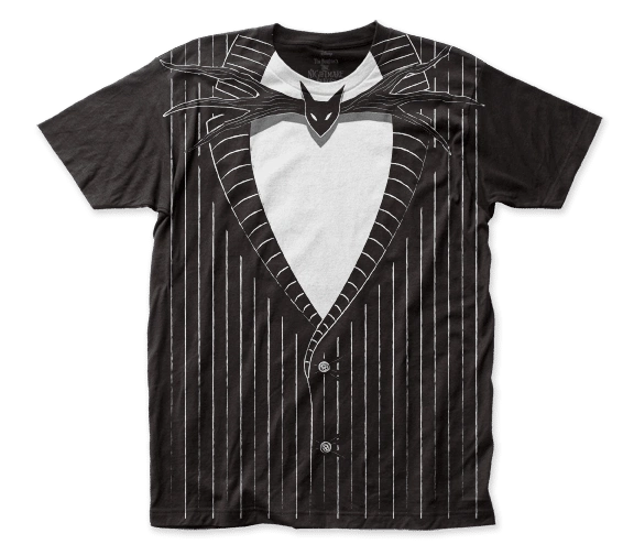 The Nightmare Before Christmas Jack Skellington Sleeve Adult T-shirt